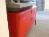 20- meuble en fer rouge