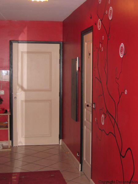 Entr e japonisante d coratrice d 39 int rieur conseil en for Decoration porte rouge