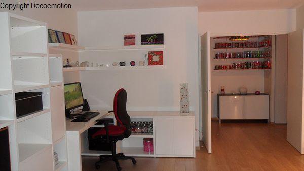 cr ation d 39 un espace bureau dans un s jour repens. Black Bedroom Furniture Sets. Home Design Ideas